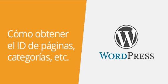 WordPress: Cómo obtener el ID de una página, post, categoría y otros