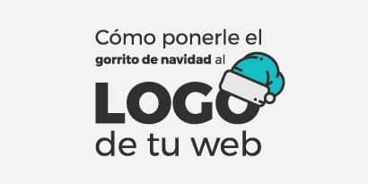 Cómo ponerle el gorrito de navidad al logo de la web