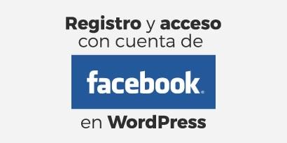 WordPress Social Login con la cuenta de Facebook