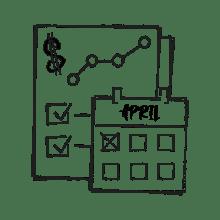 Ilustración de un calengario y una lista de tareas